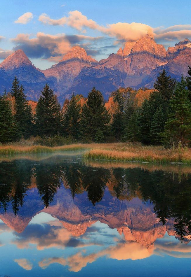 Schwabacher Landing, Grand Teton National Park, Wyoming, United States.