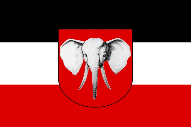 Bandera de la colonia alemana de Camerún