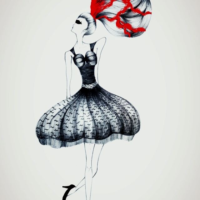 My Fashion illustration for @_camicia_ broken ballet season