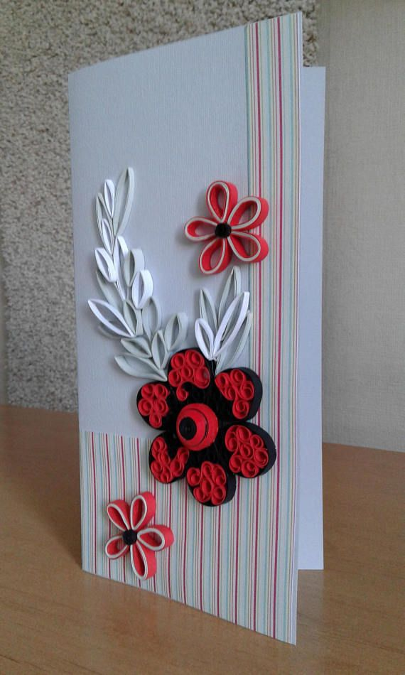 Original Greeting Card Made In The Quilling Technique Fantasy