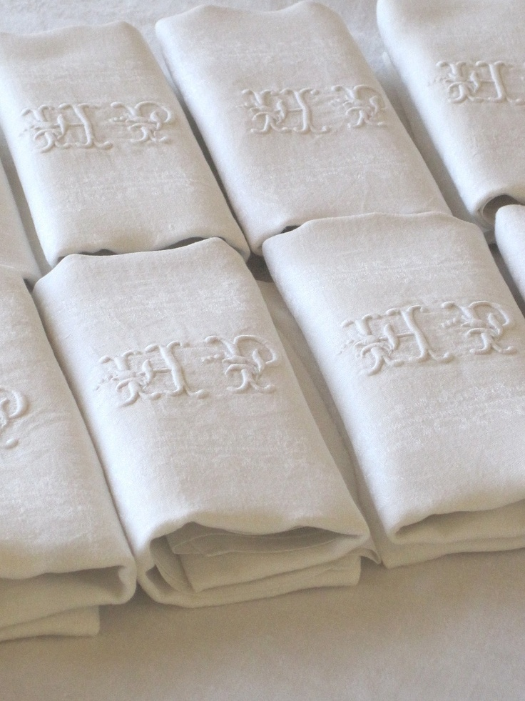 Antique French linen napkins...