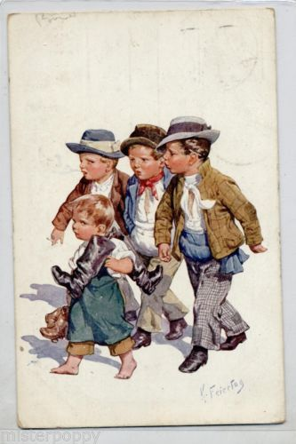 FEIERTAG-Childrens-Bambino-Calzolaio-PC-Viaggiata-1914