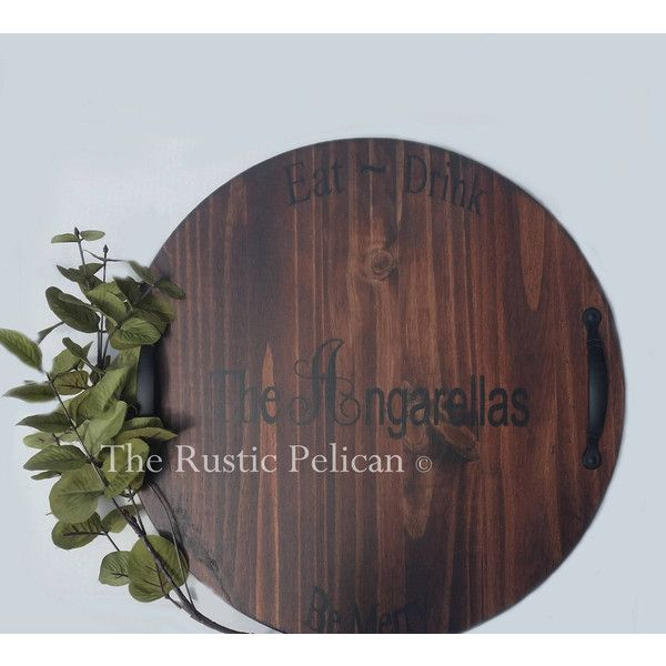 day gift wine barrel lazy susan wooden wine u20ac100 liked on polyvore featuring home home decor wood plaque