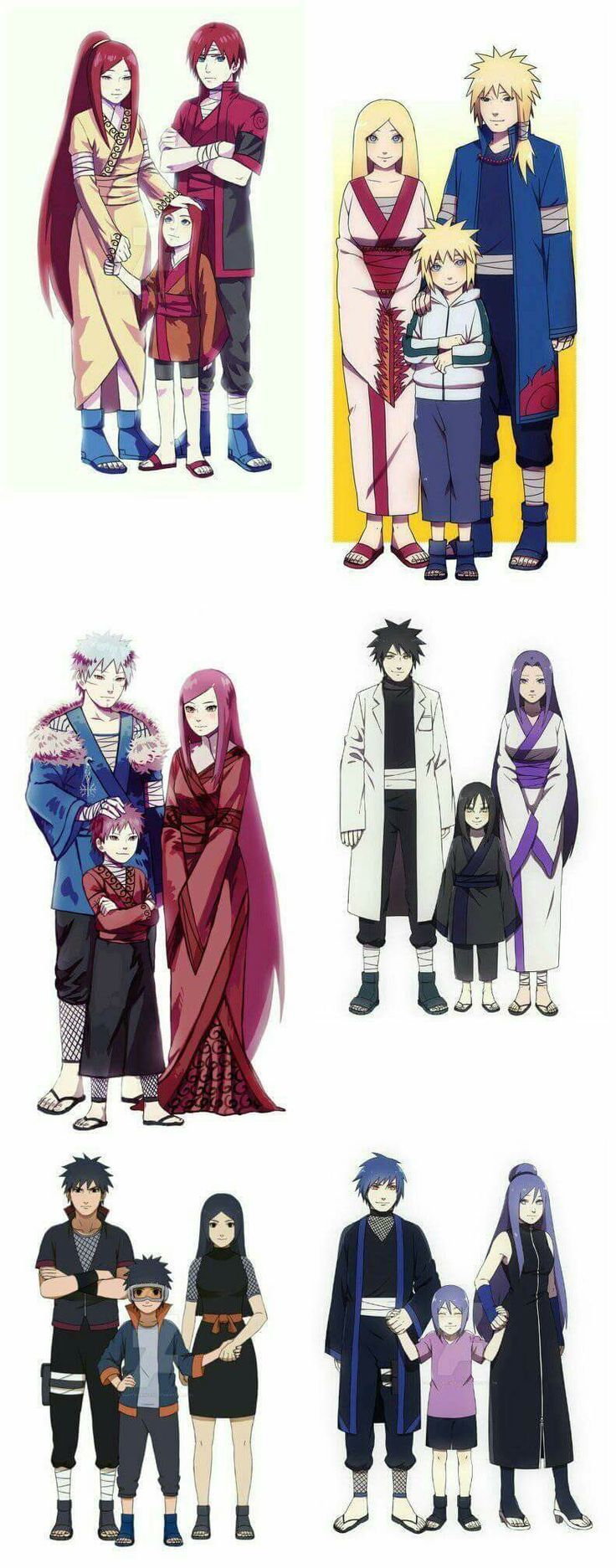 The unknown parents of some characters ♥♥♥ Kushina, Minato, Orochimaru, Konan, Obito, Tobirama's son