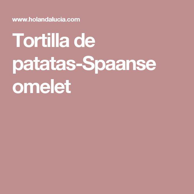 Tortilla de patatas-Spaanse omelet