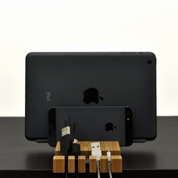 Multiple Charging Station/ Cable Organizer/ iPhone by woodworksRD
