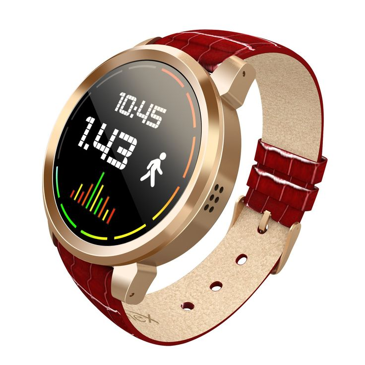 Scinex Halo Smart watch Android 5.1 (Gold Red). The Scinex Halo comes with functional Android 5.1 optimized for its small round display. The screen resizing option lets you adjust the screen to get a better view of the app. Access the quick options to view your watch status and manage quick options, just like an Android phone. Access to Google Play allows you to install any compatible 3rd Party App you want. Snapchat, Facebook, WhatsApp, and more all directly on your smart watch. The Halo...
