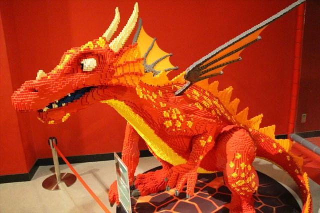 お台場レゴランドのレゴ作品展示