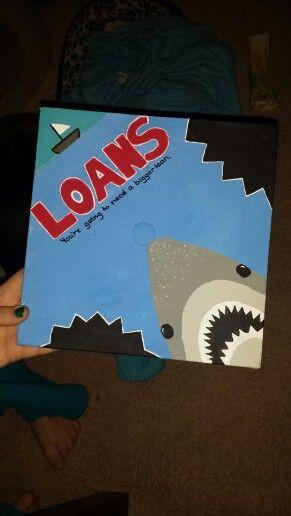 Graduation cap idea for jaws or shark lover