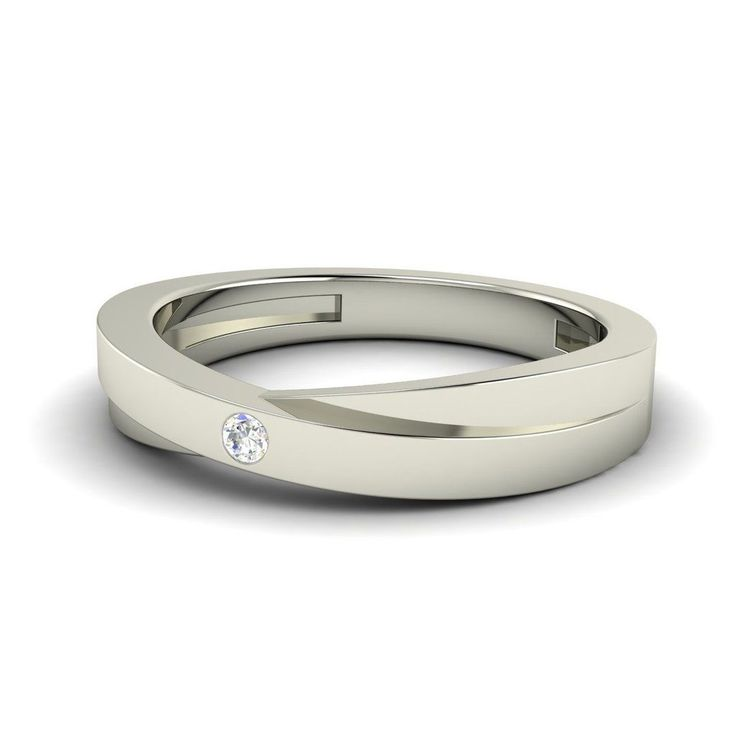 0.04 Ct Natural SI Diamond Wedding Band Mens Wedding Band Ring in 14k Solid Gold | eBay