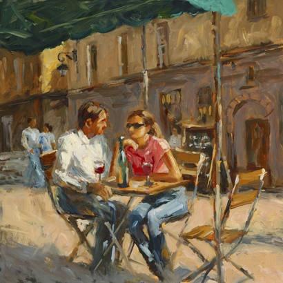 Wine In The Afternoon by Karen Wilkerson   Fine Art Prints   GalleryDirect