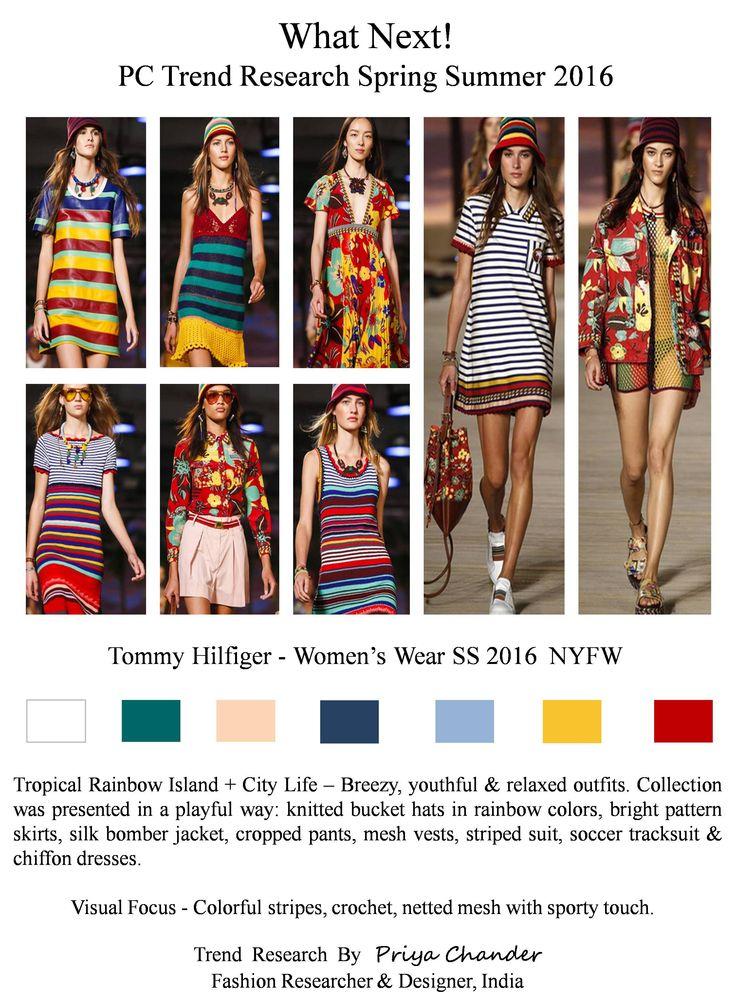 #fashion #art #design #pctrendresearch #tommyhilfiger #SS16 #NYFW #tropical #breezy #yellow #buckethat #denim #pajama #chiffon #fashiontrends2016 #fashionindustry #fashionnewslive #fashionweek #fashionnews #checks #floralprint #maxidresses #crochet #dresses #stripes #colorful #sporty #floral #lifestyle #rainbowcolors