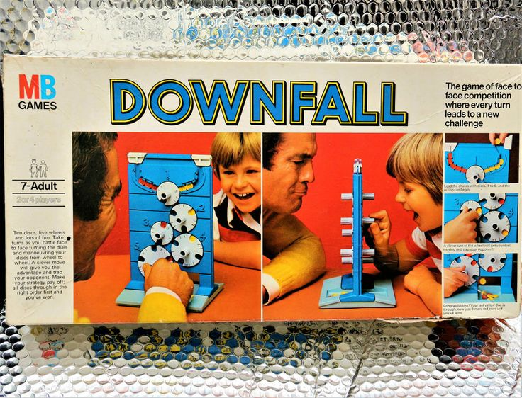 Complete 1977 DOWNFALL Original Vintage Game by MB TATTY BOX ,ALL INSIDE PERFECT