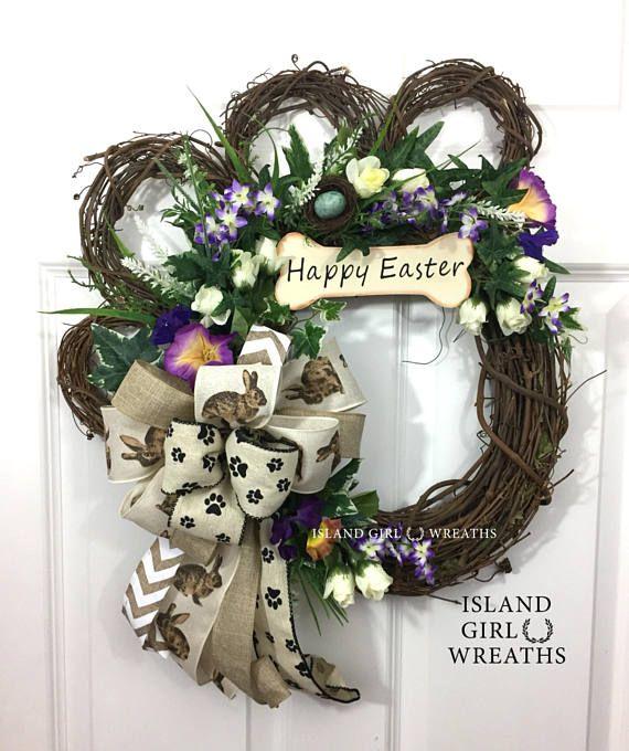 Dog Wreaths Grapevine Dog Wreath Paw Wreaths Dog Wreath