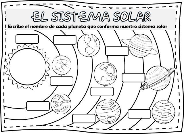 Imágenes del sistema solar para Colorear