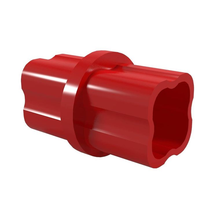1-1/4 in. Furniture Grade PVC Sch. 40 Internal Coupling in Red (10-Pack)