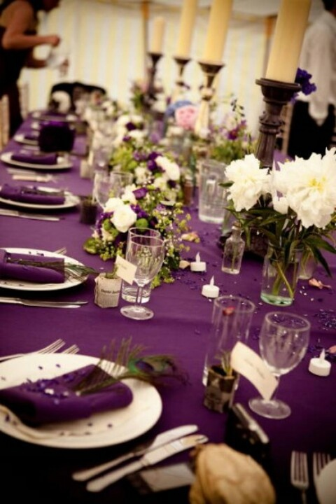 Wedding   Purple Tablecloths 2