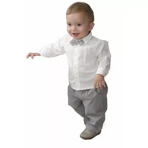 Conjunto Infantil Masculino Para Batizado Ou Aniversário - R$ 117,90