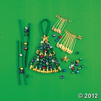 Christmas Tree Beaded Pin Ornament Craft Kit