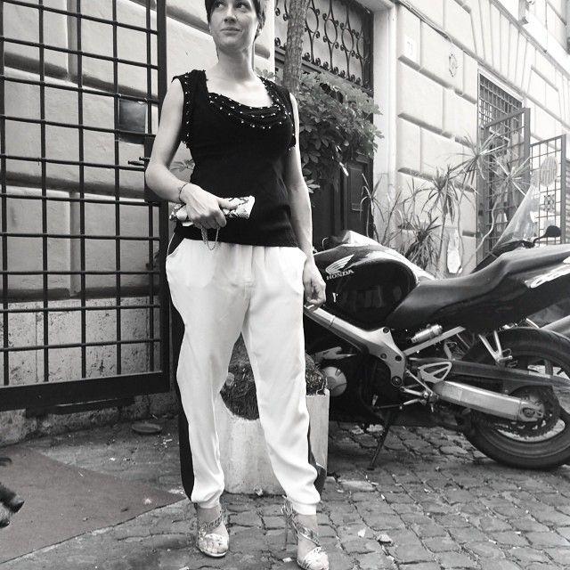 #tshirt#isabelmarant, #trousers#toupy, #sandals#sergiorossi