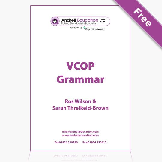 This document highlights the elements of grammar in the new National Curriculum, where they fit and can be taught using Big Writing and VCOP.