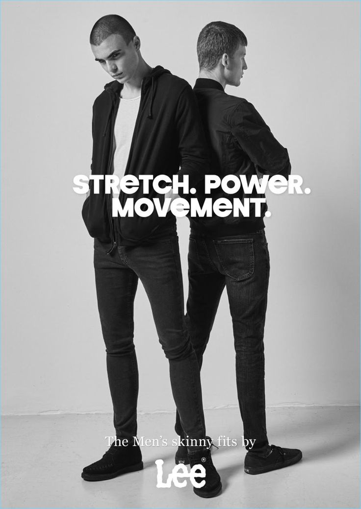Models Diego Villarreal and Bastian Thiery come together as the faces of Lee Jeans.
