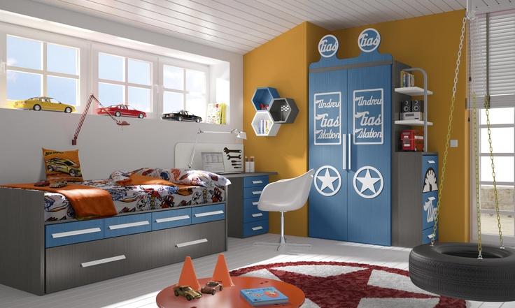 Habitaciones infantiles temáticas dibujos animados coches5