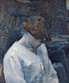 La Rousse in a White Blouse / Henri de Toulouse-Lautrec / 1889 / oil on canvas
