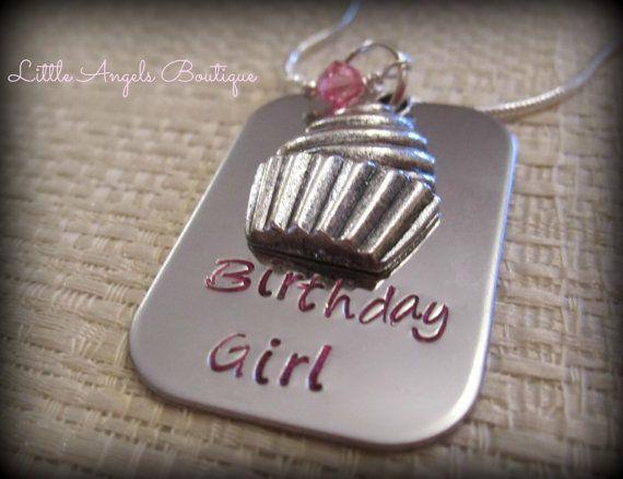 Birthday Girl Childrens Neklace Cupcake by littleangelsboutique, $18.00