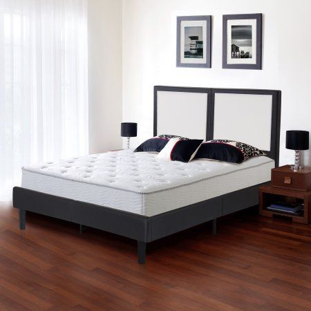 Home Tall Bed Frame Bed Frame Headboard Leather Platform Bed
