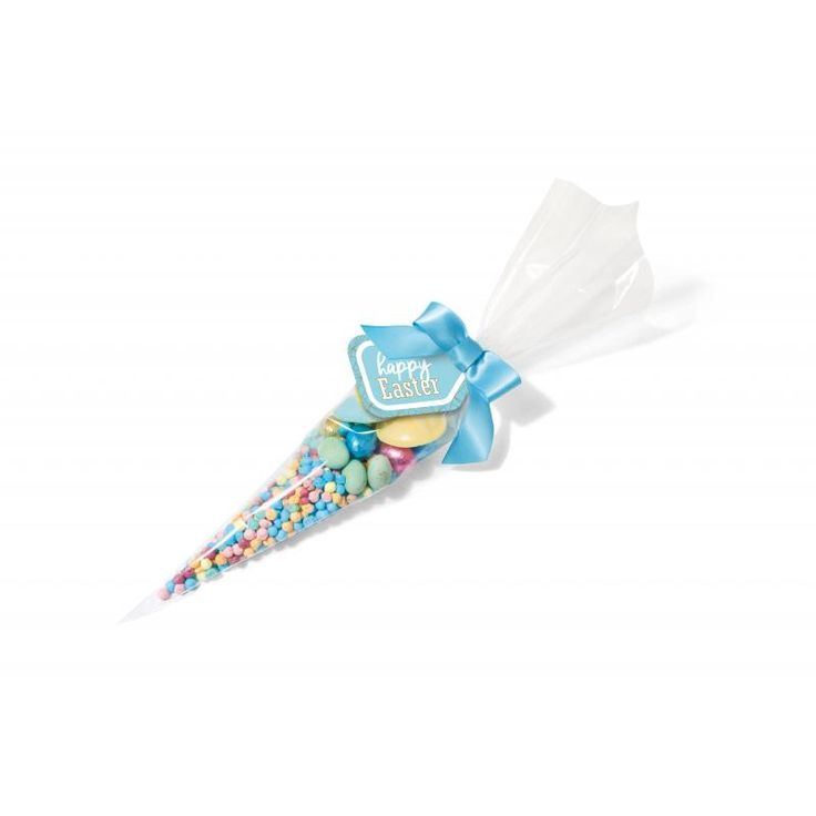 Image of Branded Easter Cone Filled With Easter Sweets And Mini Chocolate Eggs.