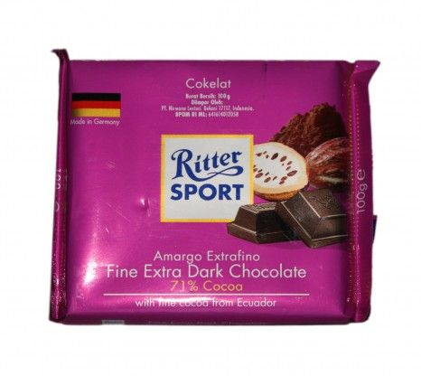 Ritter Sport Fine Extra Dark Chocolate 100g at Rs.175