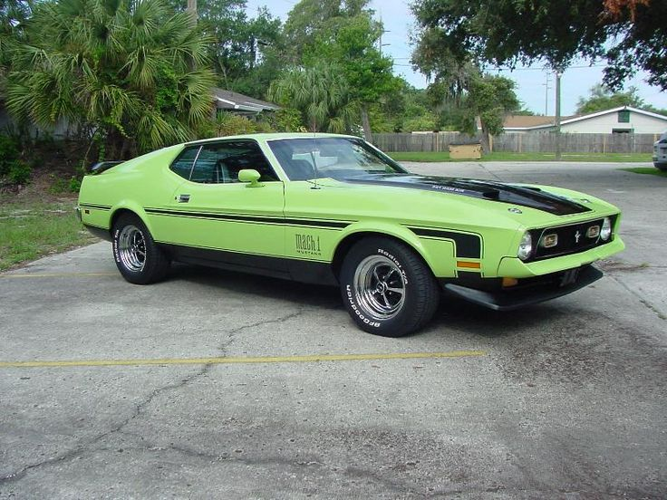 1971 Mach 1 Mustang (not my color preference though).