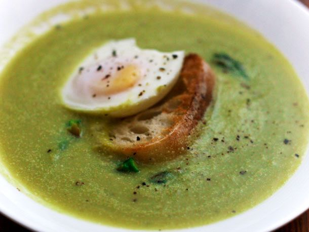 Dinner Tonight: Asparagus Soup with Egg on Toast | Recipe