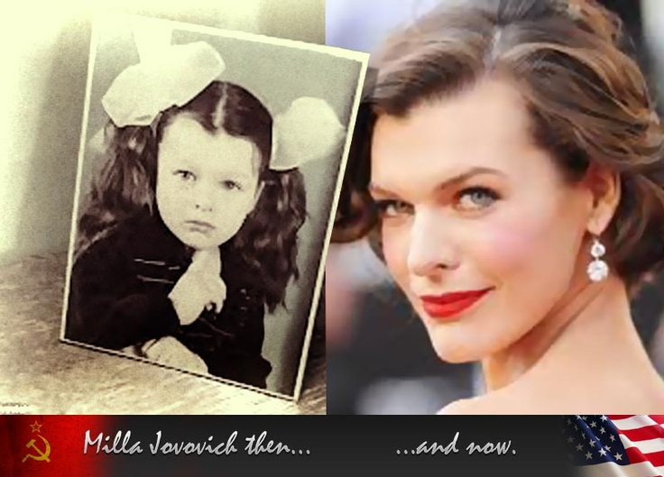 And one more Milla Jovovich: before emigration and after.