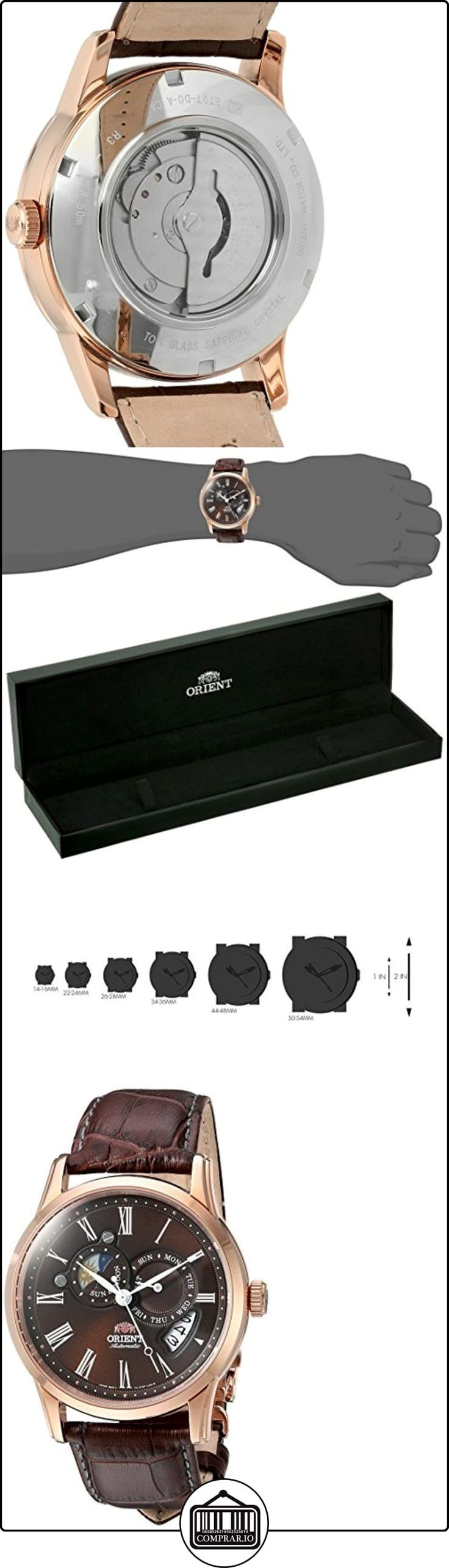 Orient Men's 42.5mm Automatic Brown Calfskin Mineral Glass Date Watch FET0T003T0  ✿ Relojes para hombre - (Lujo) ✿