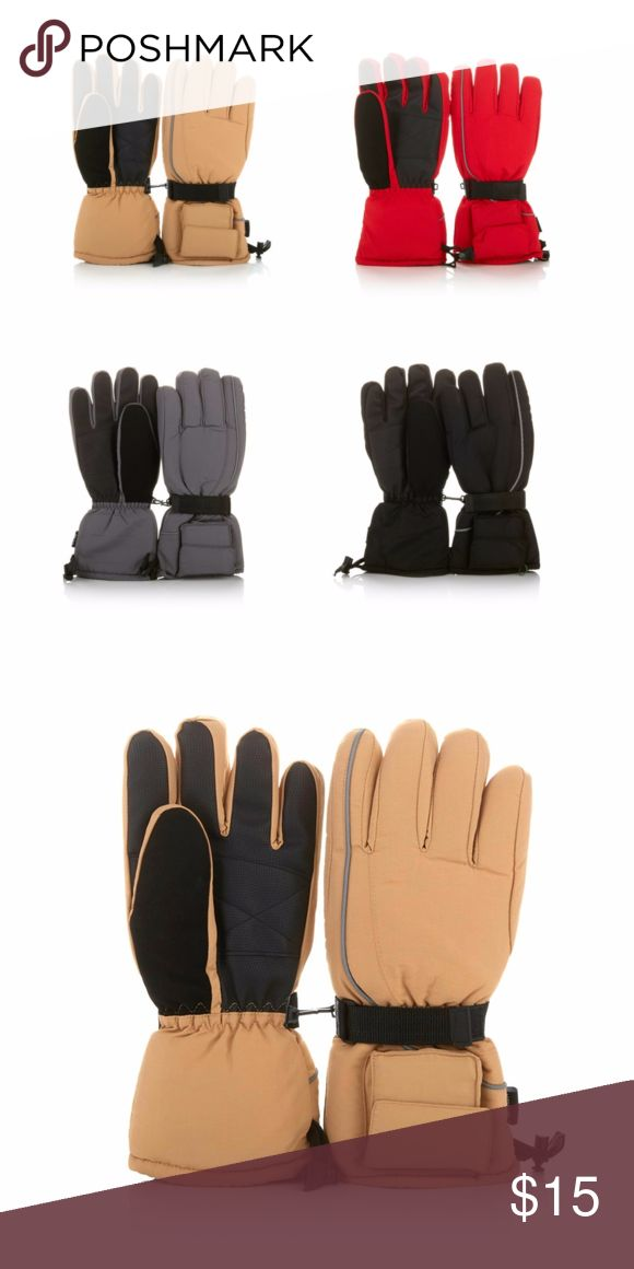 """Battery-Operated Heated Snow Winter Gloves Camel Keep your hands warm on chilly days with these heated gloves. These battery-powered mitts provide hours of warmth and a secure grip for all sorts of outdoor activities. Like to enjoy the night air? They have built-in reflectors to help keep you safe. There's even a soft suede strip for gently wiping cold, runny noses. Your hands are good to you, so love them back!   Approx. 12-3/4""""L 4 AA batteries per glove, not included Use outside while…"""