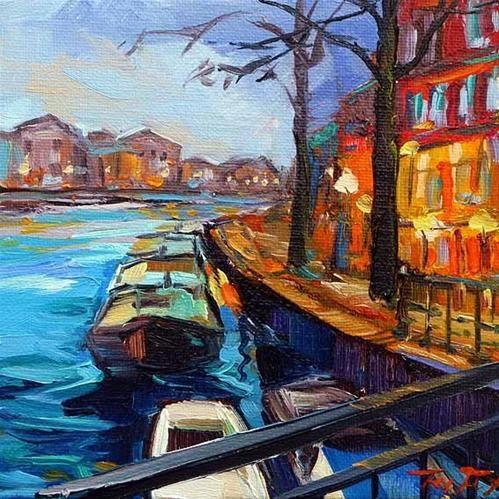 """Daily Paintworks - """"Die Grachten 10"""" by Jurij Frey"""