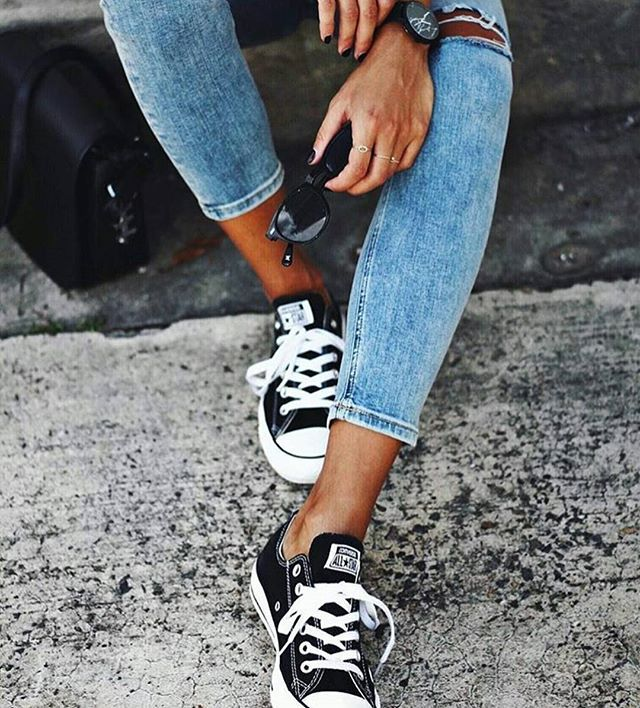 Style staples: denim & @converse ✌ #photooftheday #fashion #style #igers #inspo #wiwt #ootd #converse #sneakers #love #regram @andicsinger