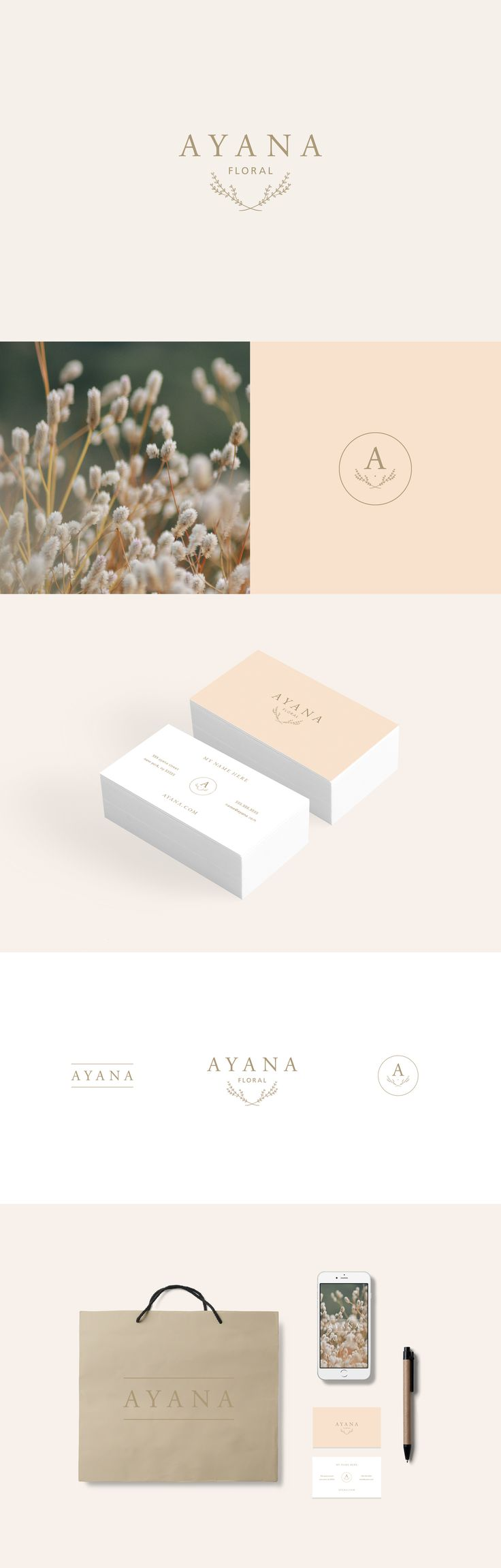 floral branding kit, branding, inspiration, brand identity, logo design, business card design, pink, stylish, minimal, stylish, graphic design