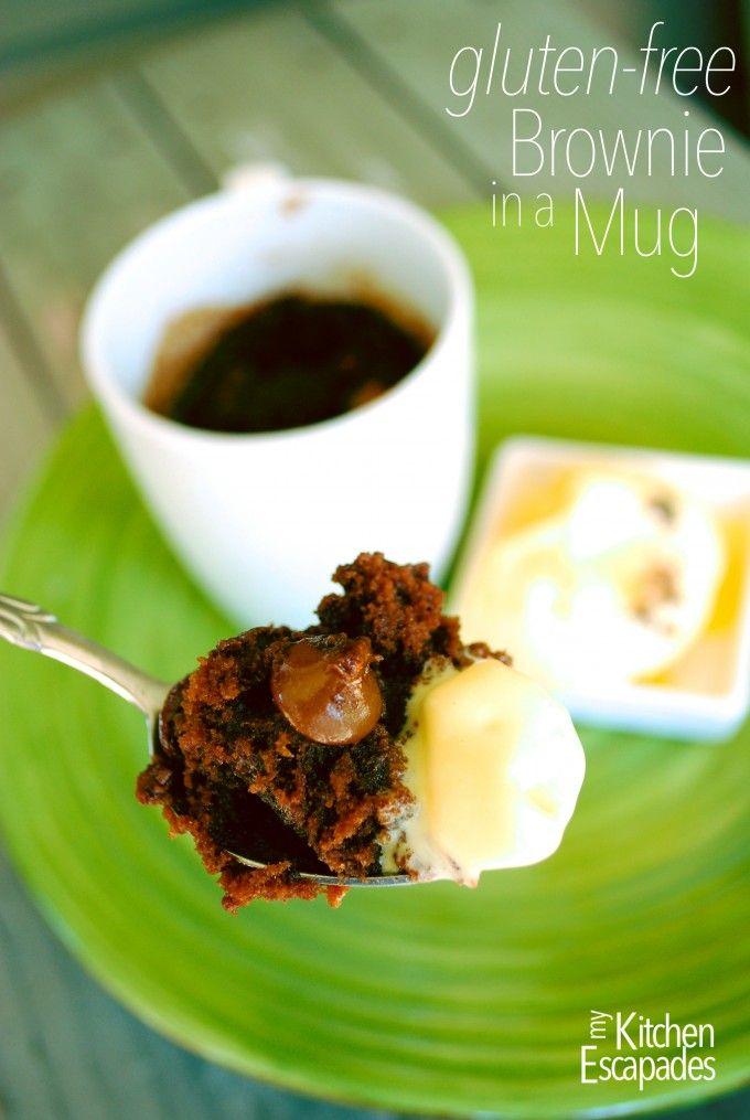 Gluten-Free Brownie in a Mug - My Kitchen Escapades