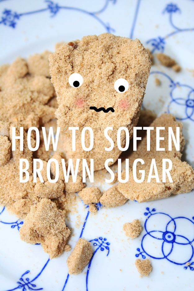 Best Baking Hacks - Soften Brown Sugar - DIY Cooking Tips and Tricks for Baking Recipes - Quick Ways to Bake Cake, Cupcakes, Desserts and Cookies - Kitchen Lifehacks for Bakers http://diyjoy.com/baking-hacks