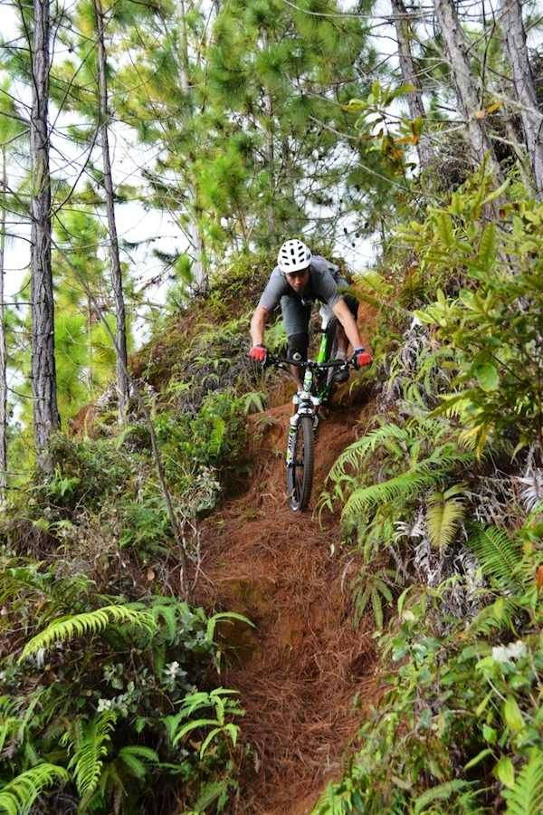 "#mtb #enduro #trail Mountain Biking Tahiti | ""If you hit a rut or a rock downhill, this is an automatic fly-over-the-handlebar."" - Steve"