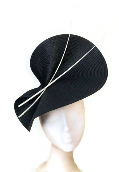 999f24f8074 Navy blue fascinator