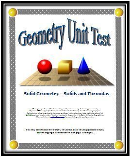 Best 25 area and perimeter formulas ideas on pinterest formula geometry unit 100 point test over solids and formulas fandeluxe Choice Image