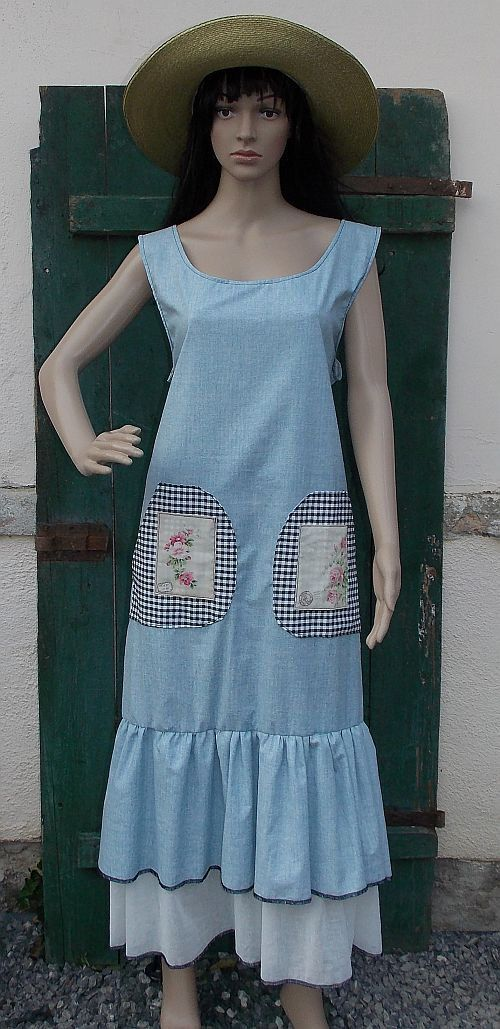 Dress ruffle skirt country style fashion by AtelierJoanVilem