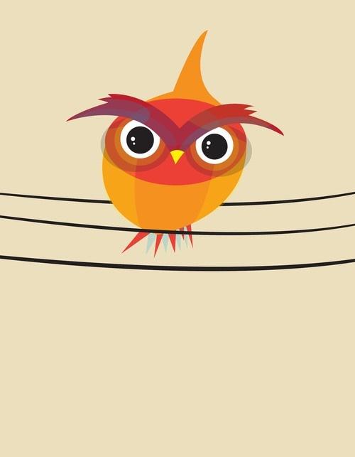 Birds On a Wire Owl