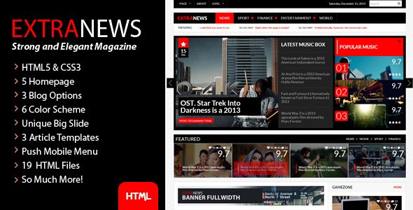 ExtraNews - Strong and Elegant Magazine/Blog/News