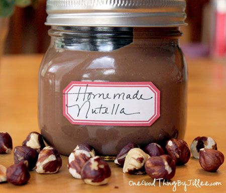 How To Make Your Own Homemade {Gluten-Free} Nutella | One Good Thing by Jillee: Desserts, Homemade Gluten Fre, Fall Recipes, Nutella Gluten Free, Nutella 17, Gluten Fre Nutella, Coconut Oil, Homemade Nutella Recipes, Gluten Free Nutella