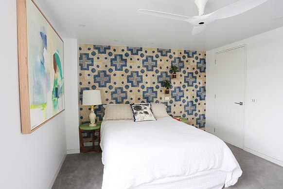 The Block Sky High: Room Reveal: Trixie + Johnnos bedroom and ensuite #theblock #theblockshop